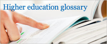 Higher Education Glossary
